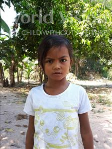 Choose a child to sponsor, like this little girl from Soutr Nikom, Sreypenh age 8