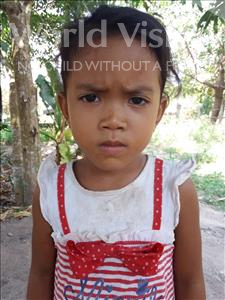 Choose a child to sponsor, like this little girl from Soutr Nikom, Vanna age 5