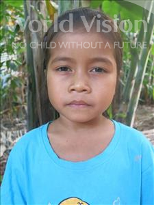 Choose a child to sponsor, like this little girl from Soutr Nikom, Yulay age 8