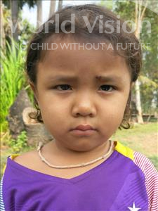 Choose a child to sponsor, like this little girl from Soutr Nikom, Nary age 4