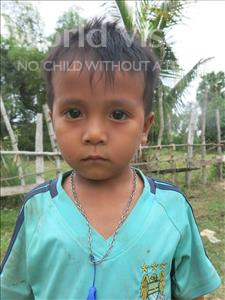 Choose a child to sponsor, like this little boy from Soutr Nikom, Bun Jame age 6