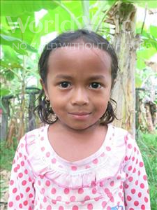 Choose a child to sponsor, like this little girl from Soutr Nikom, Srei Orn age 5