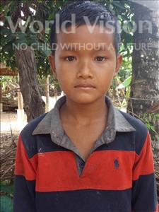 Choose a child to sponsor, like this little boy from Soutr Nikom, Thai age 10