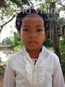 Choose a child to sponsor, like this little girl from Soutr Nikom, Chanrey age 7