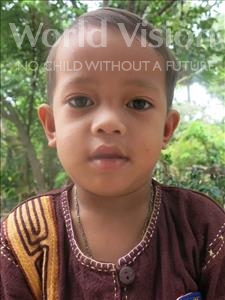 Choose a child to sponsor, like this little boy from Soutr Nikom, Phousa age 3