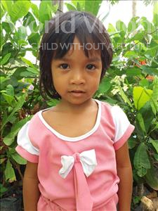 Choose a child to sponsor, like this little girl from Soutr Nikom, Sreirou age 4