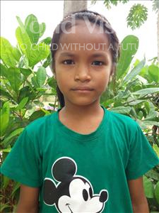 Choose a child to sponsor, like this little girl from Soutr Nikom, Narey age 7