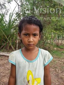 Choose a child to sponsor, like this little girl from Soutr Nikom, Chanrey age 6