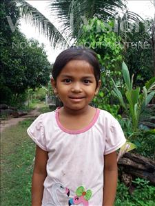 Choose a child to sponsor, like this little girl from Soutr Nikom, Sreinuch age 6