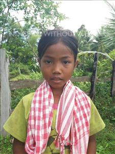 Choose a child to sponsor, like this little girl from Soutr Nikom, Lyka age 7