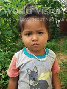 Choose a child to sponsor, like this little girl from Soutr Nikom, Theara age 3