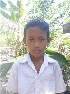 Choose a child to sponsor, like this little boy from Soutr Nikom, Dynaet age 3
