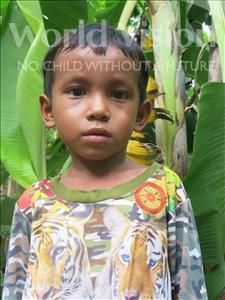 Choose a child to sponsor, like this little boy from Soutr Nikom, Reth Makara age 6