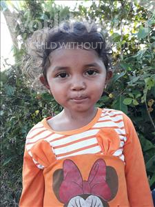 Choose a child to sponsor, like this little girl from Soutr Nikom, Lysa age 4