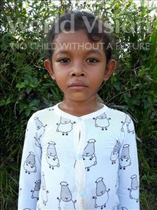 Choose a child to sponsor, like this little girl from Soutr Nikom, Uo Try age 6