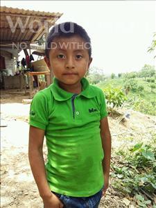 Choose a child to sponsor, like this little boy from Maya, Erixon Dagoberto age 7