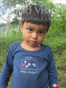 Geovany Alberto, aged 3, from Honduras, is hoping for a World Vision sponsor