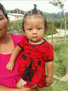 Choose a child to sponsor, like this little girl from Maya, Delmy Yesenia age 1