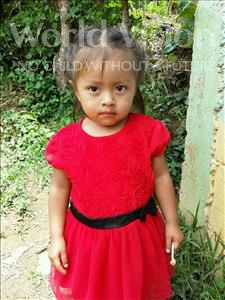 Ana Teresa, aged 2, from Honduras, is hoping for a World Vision sponsor