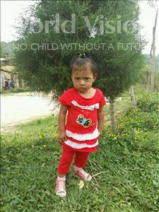 Choose a child to sponsor, like this little girl from Maya, Lilian Marilu age 2