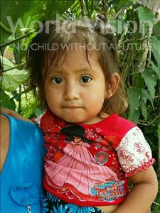 Choose a child to sponsor, like this little girl from Maya, Estela Sarai age 2