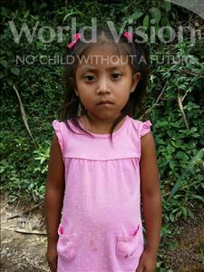 Choose a child to sponsor, like this little girl from Maya, Yeily Vanessa age 5