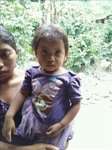 Choose a child to sponsor, like this little girl from Maya, Maira Magaly age 2
