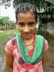 Choose a child to sponsor, like this little girl from Bhojpur, Neha age 13