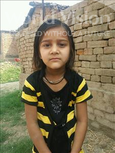 Choose a child to sponsor, like this little girl from Bhojpur, Muskan age 6