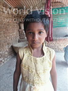 Choose a child to sponsor, like this little girl from Bhojpur, Pinki age 6