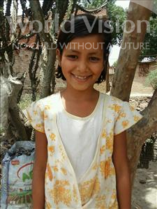 Choose a child to sponsor, like this little girl from Bhojpur, Priya age 11