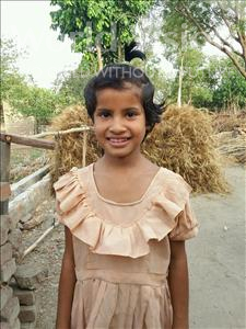 Choose a child to sponsor, like this little girl from Bhojpur, Durga age 8
