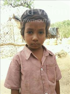 Choose a child to sponsor, like this little girl from Bhojpur, Chandani age 7
