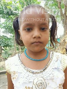 Choose a child to sponsor, like this little girl from Bhojpur, Reena age 6