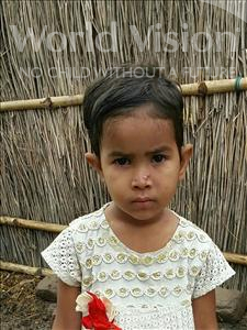 Choose a child to sponsor, like this little girl from Bhojpur, Vidya age 4