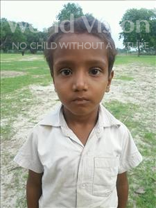 Choose a child to sponsor, like this little boy from Bhojpur, Dipu age 5