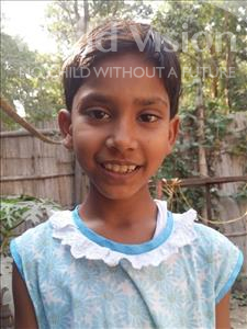 Choose a child to sponsor, like this little girl from Patna, Khusi age 12