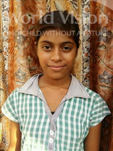 Choose a child to sponsor, like this little girl from Patna, Vishaka age 12