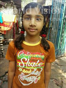 Choose a child to sponsor, like this little girl from Patna, Janvi age 8
