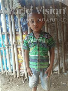 Choose a child to sponsor, like this little boy from Patna, Tanmay age 3