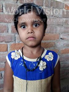 Choose a child to sponsor, like this little girl from Patna, Pinki age 7