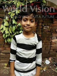 Choose a child to sponsor, like this little boy from Patna, Md Tausib age 8