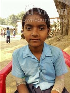 Choose a child to sponsor, like this little girl from Patna, Soni age 7