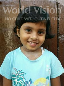 Choose a child to sponsor, like this little girl from Patna, Riya age 5