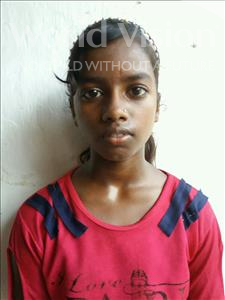 Choose a child to sponsor, like this little girl from Patna, Muskan age 12
