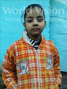 Choose a child to sponsor, like this little girl from Patna, Prachi age 8