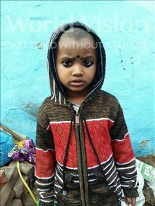 Choose a child to sponsor, like this little girl from Patna, Anjali age 5