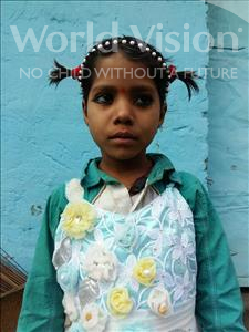 Choose a child to sponsor, like this little girl from Patna, Anjani age 7
