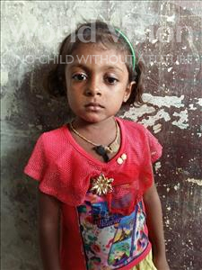 Choose a child to sponsor, like this little girl from Patna, Khushi age 5