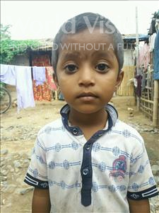 Choose a child to sponsor, like this little girl from Patna, Nidhi age 3